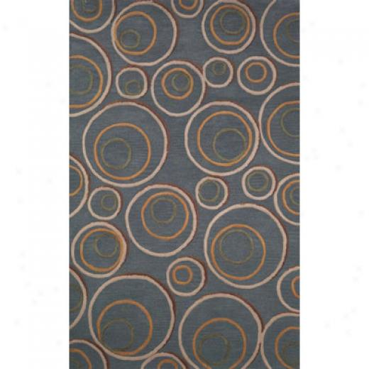 Trans-ocean Import Co. Taos 4 X 6 Hoops Blue Area Rugs