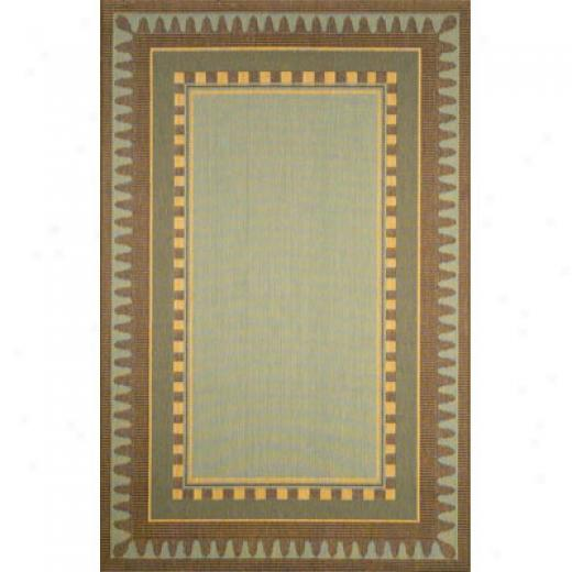 Trans-ocean Import Co. Terrace 2 X 7 Runner Border Aqua Area Rugs