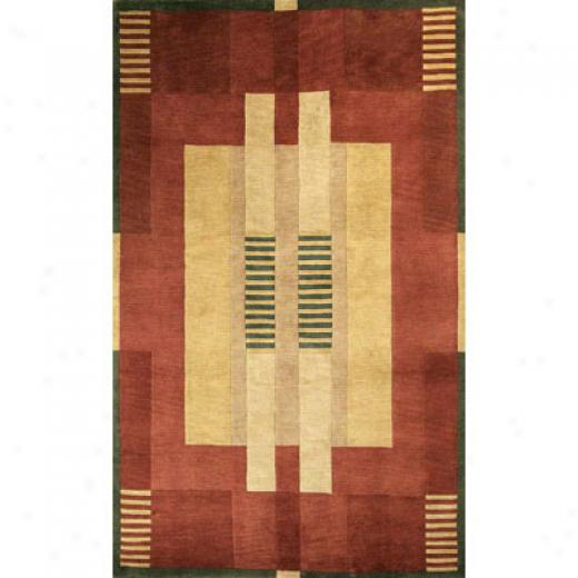 Trans-ocean Import Co. Tribeca 8 X 11 Moderne Reds rAea Rugs