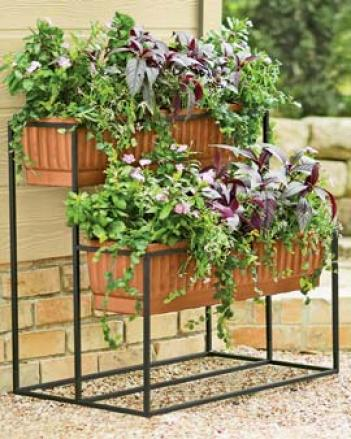 2-tier Self-watering Cascade Plwnter