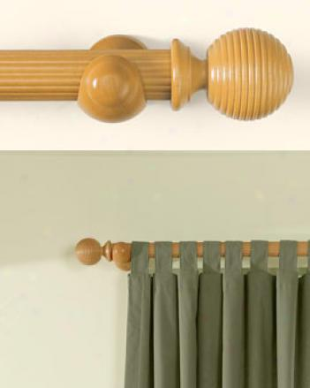 4'  Fluted Curtain Rod