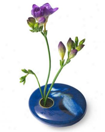 Blue Wave Ikebana Vase