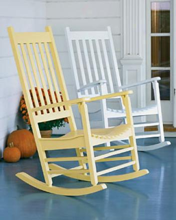 Chatham Poorch Rocker,, Yellow