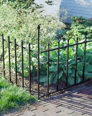 Chelsea Border Fence Posts, Set Of 2