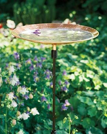 Copper-finish Birdbath