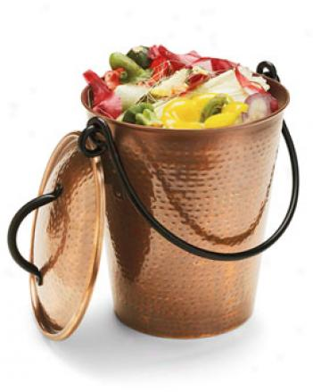 Copper Finish Compost Pail