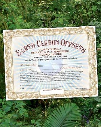 Earth Carbon Offsets,-1 Ton