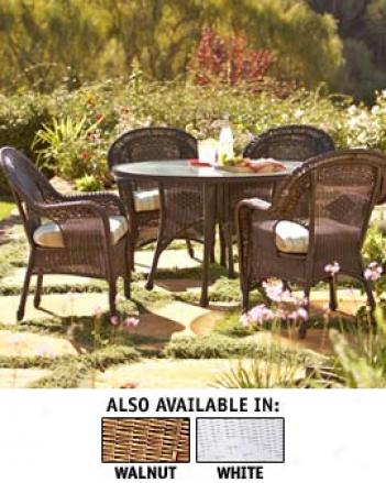 Eden Dining Set, White, Westerly Delivery