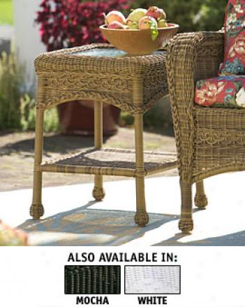 Eden Wicker Side Table