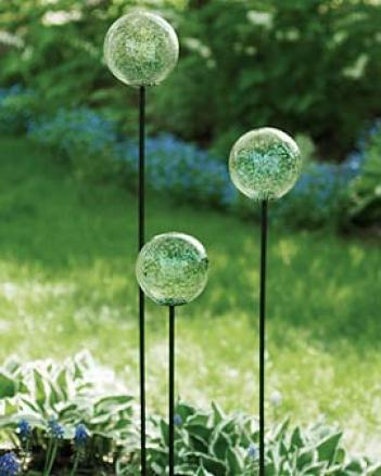 Fairydust Balls With Stakes, Set Of 3