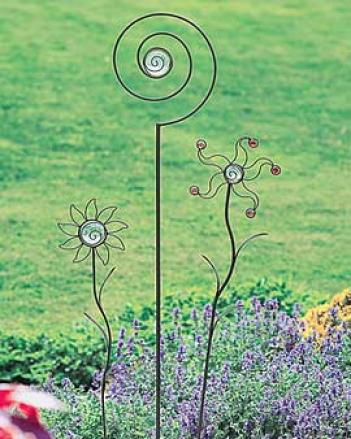 Fanciful Garden Stakes, Set Of 3