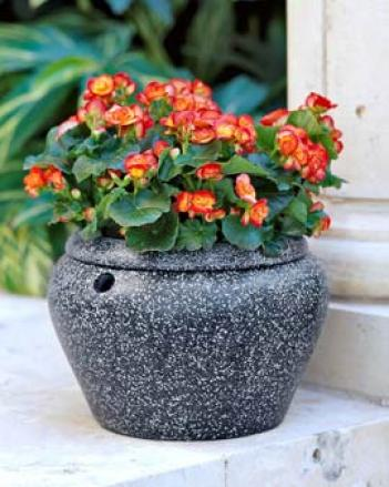 Faux Granite Planter