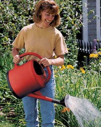 French Watering Can, Red