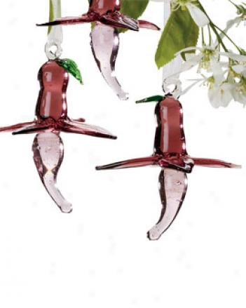 Fuchsia Blossoms, Set Of 3