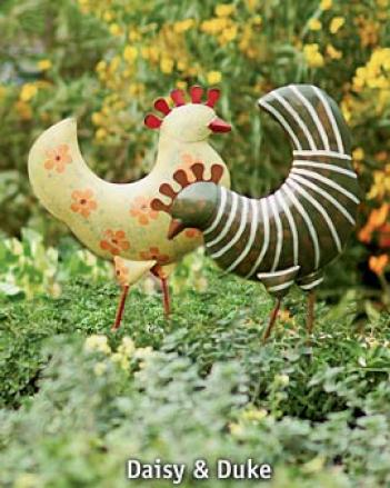 Funky Chickens, Set Of 6