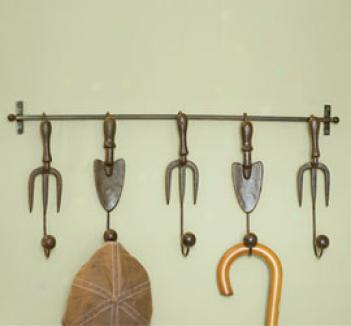 Garden Tool Coat Rack