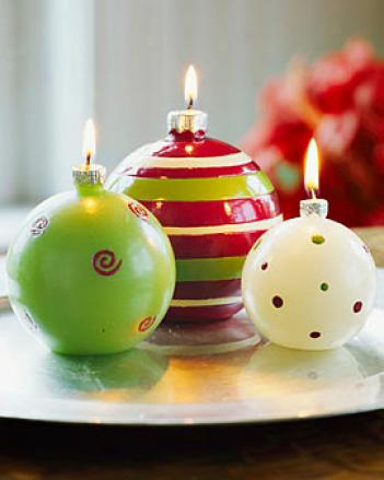 Holiday Candles, Set Of 3
