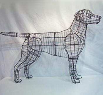 Labrador Retriever Topiary Frame