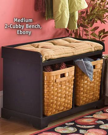 Lsrge 3-cubby Bench