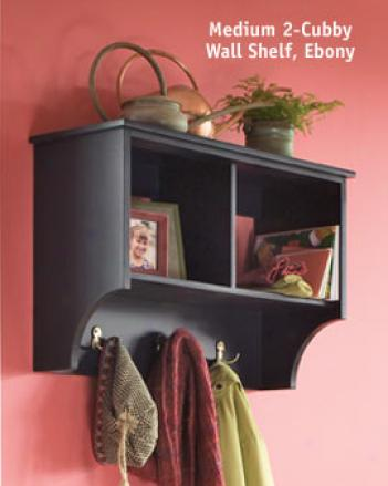 Large 3-cubby Wall Shelf