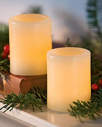 Led Votives, Set Of 2
