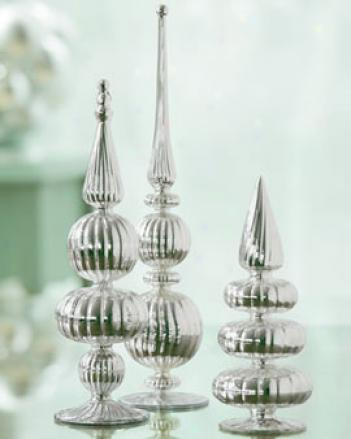 Mercury-style Finials, Set Of 3
