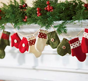 Mitten Ornaments, Set Of 5