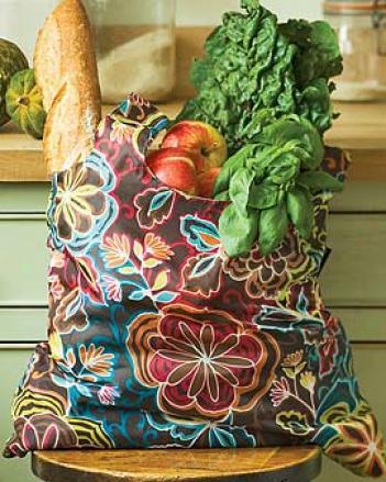 Nylon Shopping Bags, Set Of 3
