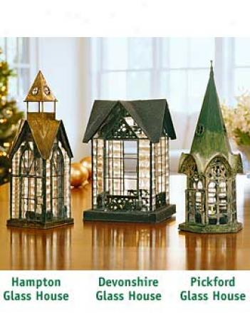 Original Glass Houses, Set Of 3