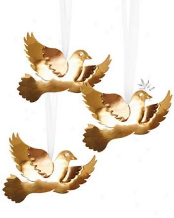 Peace Dove Ornaments, Set Of 3