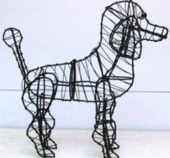 Poodle Topiary Frame