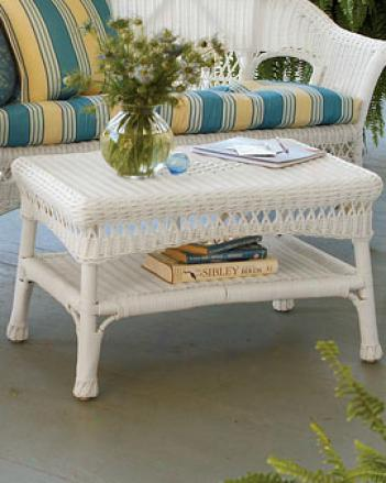 Porch Wicker Cofffee Table