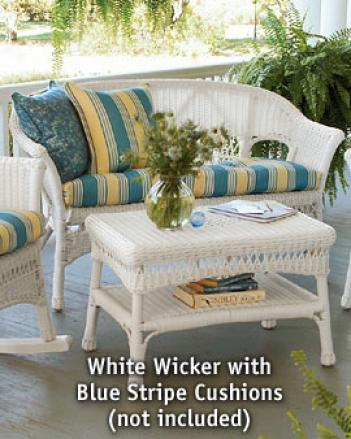 Porch Wicker Loveseat