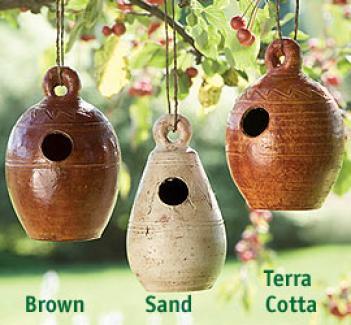 Rustic Flesh Birdhouses, Set Of 3