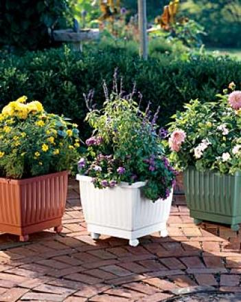 Self-watering Rolling Planter, Terra Cotta