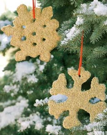 Snowflake Ornament Feeders, Set Of 2