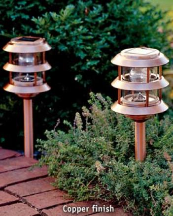 Solar Garden Lantern, Copper Finish
