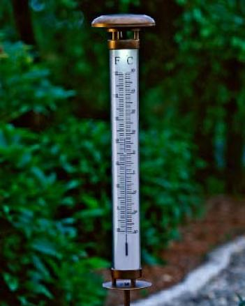 Solar Lit Thermometer