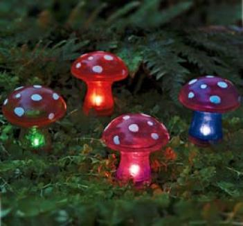 Solar Toadstools, Set Of 4