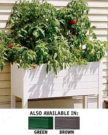 Tall Terrazza Planter, White