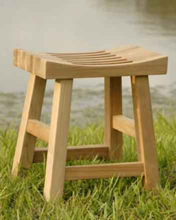 Teak Contemplation Bench