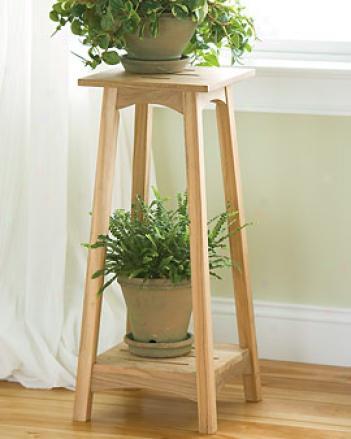 Teak Plant Stand