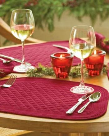 Wedge Placemats And Napkins, Set Of 4