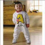Alphabet Name Romper-fleece