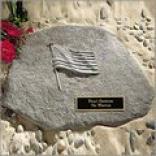 American Flag Garden Stone