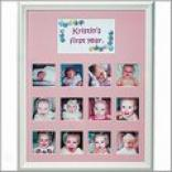 Baby's First Year Frame - Pink