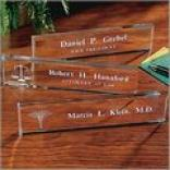 Beveled Glass Nameplates