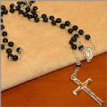 Black Beaded Rosary