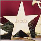 Brass Stocking Holder - Star