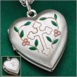 Cross Heart Locket In Sterlinv Silver